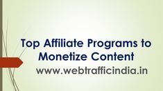 Read our Ultimate Guide To Know Top Affiliate Programs to Monetize Content. Website Monetization can be a great source of passive income if right affiliate programs are selected. Advertising Industry, Advertising Networks, Marketing Program, Affiliate Marketing, Passive Income, Programming, How To Start A Blog, Content, Website