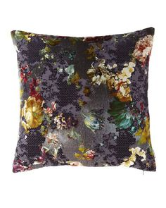 "Black Velvet Cushion Cover Designers Guild Fabric Shimmering Textile Square 16/"""