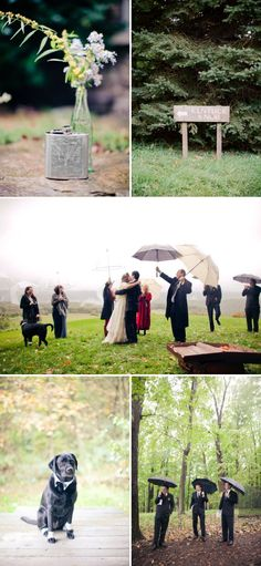 the best rainy day wedding ever - calms my nerves about (heaven forbid) it rains on our day..  the bride had such a great attitude and the pictures are gorgeous.