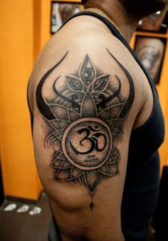 Hand Om Tattoo Design