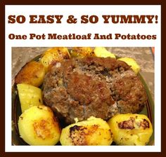 One Pot Meatloaf And Potatoes #Recipe For The Ninja Cooking System - From Val's Kitchen : From Val's Kitchen