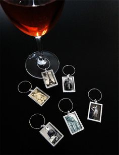 Instant Photo Wine Charms Kit Elite Rectangles Makes 100 Wine Tags - Photo Jewelry Making Make Your Own Wine, Make It Yourself, Wine Logo, Wine Baskets, Expensive Wine, Wine Glass Charms, Kit, Wine Gifts, Diy Photo