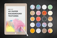 Ad: Background Textures for ProCreate by Creative Veila on I've been working on the iPad Pro for a while, and I love it a lot! It brings so much fun with fantastic apps designed with Apple Pencil in Canvas Background, Textured Background, Watercolor Texture, Watercolor And Ink, App Design, Free Design, Crumpled Paper, Creative Sketches, Paint Markers
