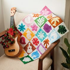 Hawaiian themed quilting!