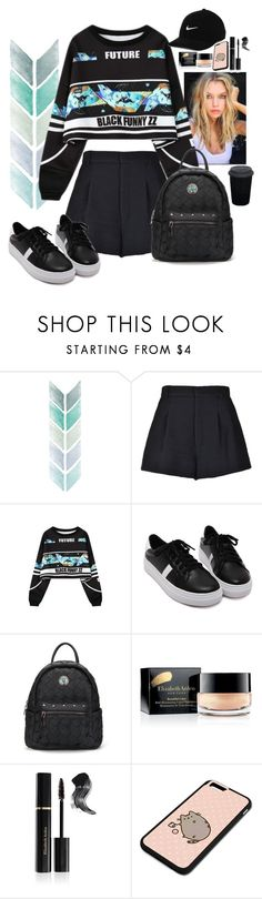 """""""School outfit"""" by youngsmile ❤ liked on Polyvore featuring RED Valentino, WithChic, adidas, Elizabeth Arden, Pusheen and NIKE"""