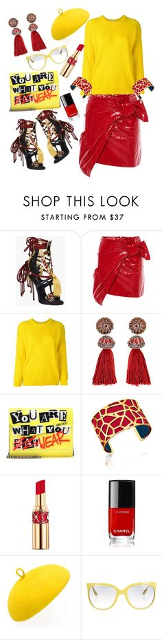 """""""summer to fall"""" by lisacom ❤ liked on Polyvore featuring Dsquared2, Isabel Marant, Roseanna, Lanvin, Jimmy Choo, Les Georgettes, Yves Saint Laurent, Mademoiselle Slassi and Ray-Ban"""