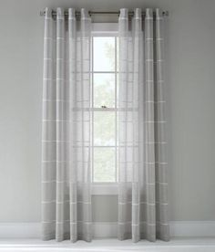 Not your average sheer. A series of thin textured stripes add a new level of elegance. {Prospect + Vine Marni Striped Sheer Grommet Curtains Pair - Grey}