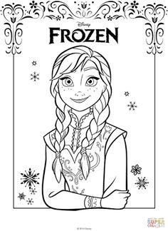 Resultado de imagem para desenhos frozen anna