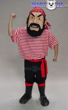 Pirate Mascot Costume 44235 is part of our People Mascots Pirates