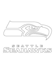 Click to see printable version of Seattle Seahawks Logo coloring page