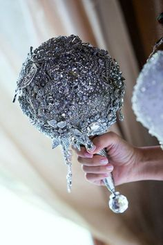Brooch bouquet The Annemarie with a twist by CrystalBroochBouquet, $525.00