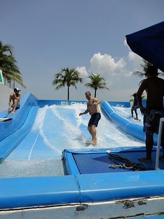 """Practice time at """"the wave house"""", Sentosa Island, Singapore"""