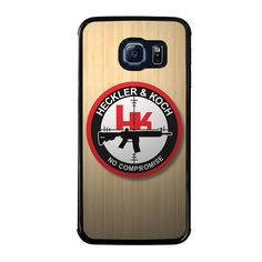 HECKLER AND KOCH WOODEN LOGO Samsung Galaxy S6 Edge Case - Best Custom Phone Cover Cool Personalized Design – Favocase