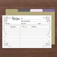 Rustic Recipe Cards PDF   Editable Printable to DIY – Love vs Design