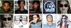 #Faces  #Boys #Girls #jeans #shirt #Skull #black #and #white #eyeglasses #3D #effect Fall Looks, Winter Looks, Girls With Glasses, Girls Jeans, Eye Glasses, Scandinavian, 3 D, Eyewear, Skull