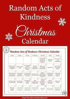 This random acts of kindness Christmas calendar was created just for kids. They'… This random acts of kindness Christmas calendar was created just for kids. They're all acts of kindness that kids can do on their own. All Things Christmas, Winter Christmas, Christmas Holidays, Christmas Crafts, Christmas Decorations, Xmas, Christmas Service, Christmas Ideas With Kids, Merry Christmas