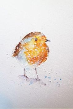 How to paint a robin in 8 easy steps. – Page 8 – watercolours by rachel Watercolor Painting Techniques, Watercolor Paintings, Watercolor Christmas Cards, Bird Drawings, Watercolor Bird, Easy Paintings, Bird Art, Art Techniques, Robin