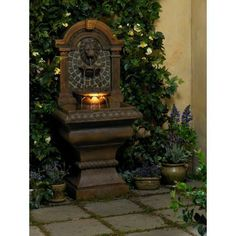 Royal Lions Head Floor Fountain, this look for my entry courtyard