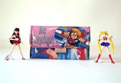 SAILOR MOON Tabaktasche Manga Anime Comic upcycling Unikat! Tabakbeutel, Tabaketui, Manga Anime Tasche Recycling handmade in Berlin von PauwPauw auf Etsy