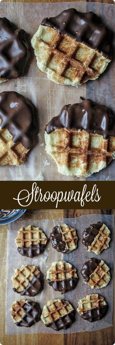 Stroopwafels | This recipe is a simple take on the Dutch stroopwafel, a classic baked good that is a thin, almost pizzelle-like cookie with a thin layer of molasses or chocolate in the center. Using a standard waffle maker, you can cook this yeasted shortbread dough, dip it in a little chocolate, and enjoy with a cup of coffee or tea! Find recipe at redstaryeast.com.