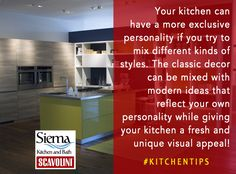 Your kitchen can have a more exclusive personality if you try to mix different kinds of styles. The classic decor can be mixed with modern ideas that can reflect your own personality while giving your kitchen a fresh and unique visual appeal! #kitchentips #Kitsilano #Vancouver #kitchenremodel #kitchenremodelling