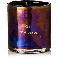 Tom Dixon Materialism Oil Candle, 245g (5.155 RUB) ❤ liked on Polyvore featuring home, home decor, candles & candleholders, candles, metallic, metallic home decor, tom dixon, dragonfly home decor, scented candles and fragrance candles