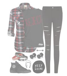"""""""//Reject//"""" by alex-bows ❤ liked on Polyvore featuring Converse and Pieces"""