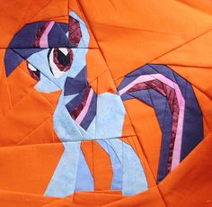 My Little Pony by @Lilja Björk, free paper pieced pattern on Fandom In Stitches and liljabs.com.