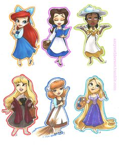 Disney Princesses by Amy Mebberson I want Amy Mebberson to draw me as a cartoon.