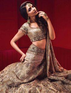 Deepika Padukone - stunning in Tarun Tahiliani couture and bridal wear in Vogue India June 2014.