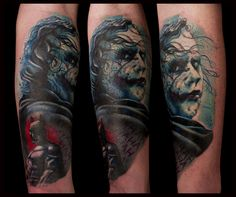 the joker tatouage tattoo prtrait par Piero la cour des miracles toulouse
