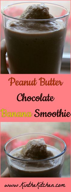Full of chocolate and peanut butter, this indulgent tasting smoothie is sweetened with banana and a touch of honey.
