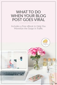 Use this exact plan of action when your blog post or video goes viral to ensure you make money from the traffic and create repeat visitors. #blogging #bloggingtips #viralposts