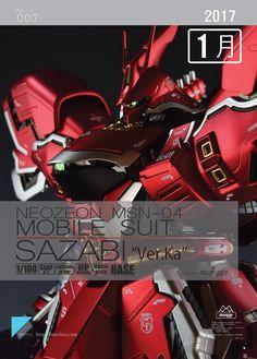 MG 1/100 Sazabi Ver Ka - Painted Build     Modeled by mungge78