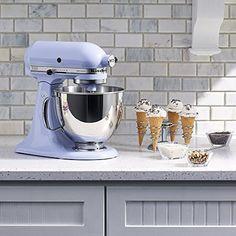 KitchenAid Artisan Series Stand Mixer with Pouring Shield - Lavender Cream Lavender Kitchen, Pastel Kitchen, Purple Kitchen, Lavender Cottage, Kitchenaid Mixer Colors, Kitchenaid Stand Mixer, Kitchen Gadgets, Kitchen Appliances, Kitchenaid Artisan