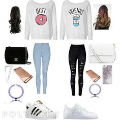 Best friend outfit (polyvore on we heart it)