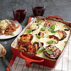 Cheesy Vegetable Moussaka Recipe | CookingLight.com #myplate, #vegetables,#dairy