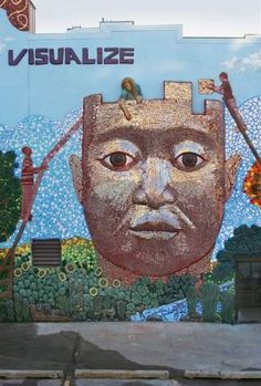 The Metaphorest: Multi media mosaic mural.      Van Duinen, a Kendall College of Art & Design graduate, works in the Chicago Public Schools using public art to help urban teenagers connect with their community.