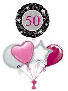 50th Black & Pink Sparkle