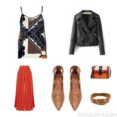 Fashion Mix With River Island Top Biker Jacket Warehouse Capri And Pointy-Toe Flats From August 2016 #outfit #look