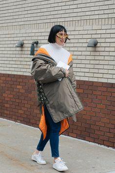 Street style à la Fashion Week automne-hiver 2017-2018 de New York Eva Chen
