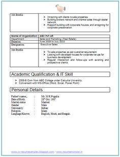 Example Template of Excellent Fresher B Tech Resume Sample ...