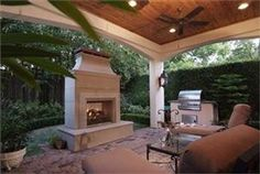 Great outdoor living space, just needs a tv
