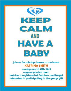 DIY Baby Shower Invite.. Made by ME!