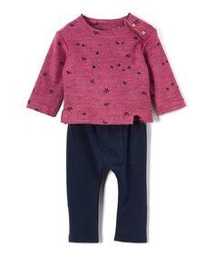 Look at this #zulilyfind! Purple Muslin Top & Pants - Toddler & Girls #zulilyfinds