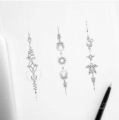Tattoos for women Unalome Tattoo, Sternum Tattoo, Back Tattoo, Dragon Tattoo For Women, Dragon Tattoo Designs, Tattoos For Women, Dainty Tattoos, Small Tattoos, Geometric Tattoo Design