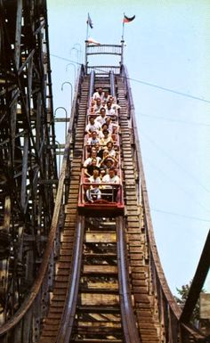 Euclid Beach Post Cards. - TheThriller ~~ Loved this ride...would get off and run and get in line again.