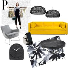 BLACK FLOWERS by fer-moreno-1 on Polyvore featuring interior, interiors, interior design, hogar, home decor, interior decorating, Swedese, The Rug Market, LEFF Amsterdam and Miya Company