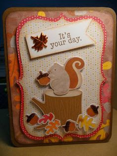 The Scrappin Rabbit: Cricut Enjoy the Seasons Fall Birthday Card