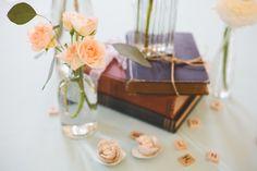library theme wedding flower centerpiece arrangements provo utah library calie rose